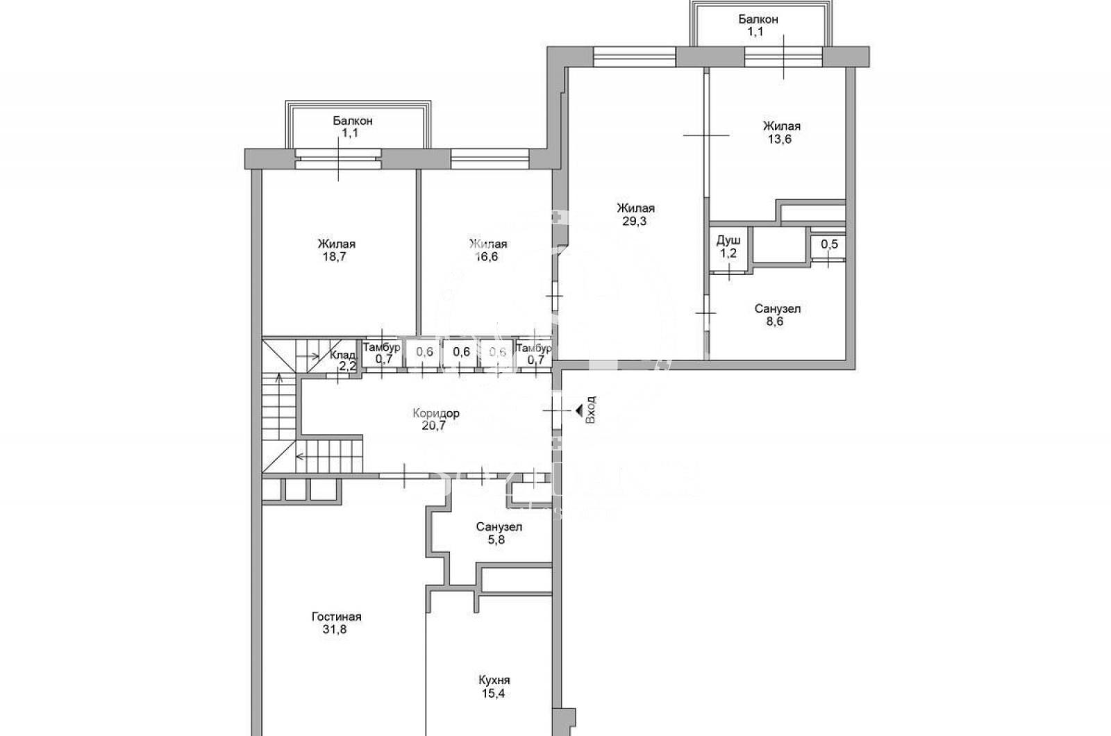 6 Комнаты, Городская, Продажа, Улица Пырьева, Listing ID 3440, Москва, Россия,