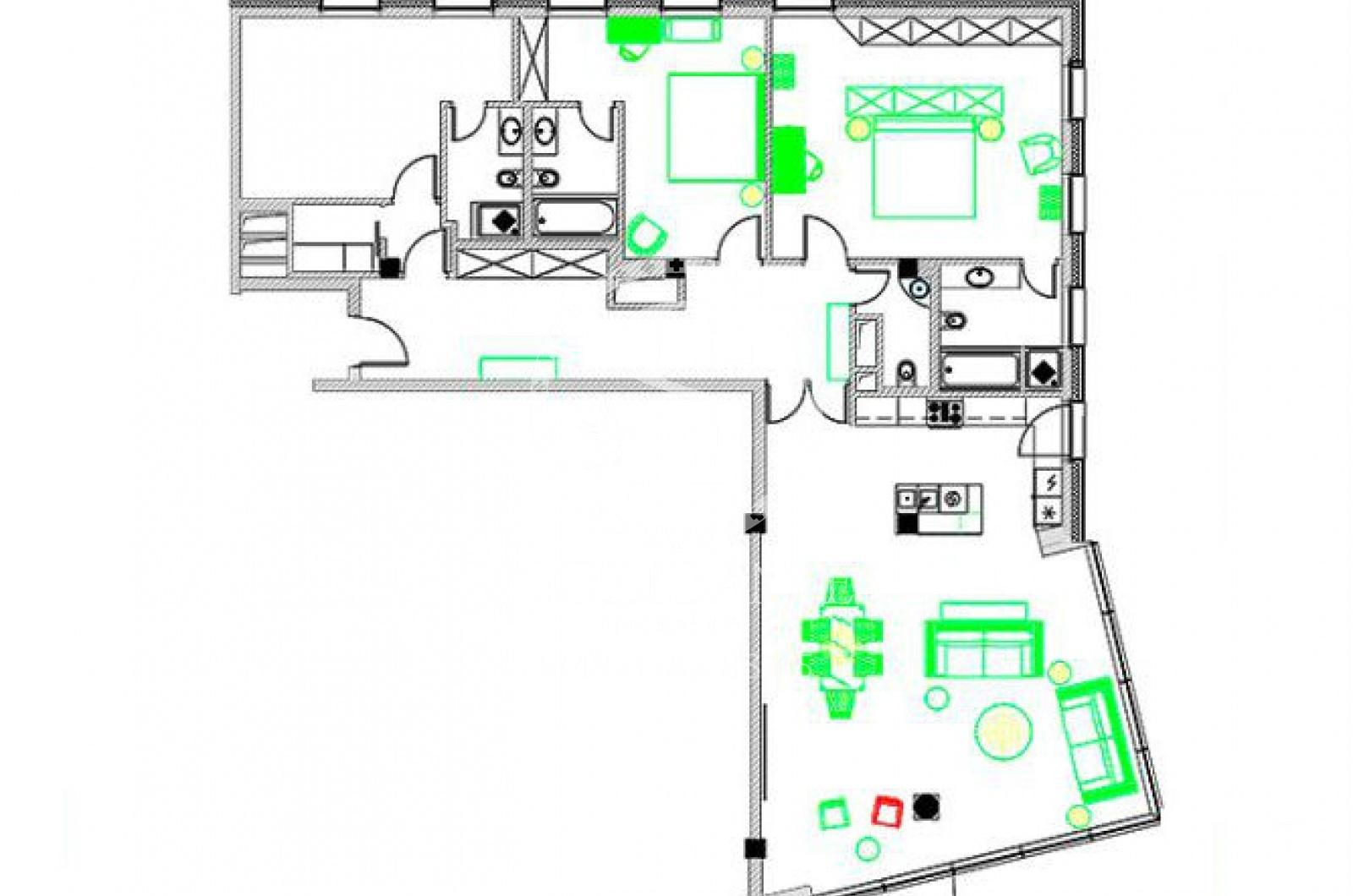 4 Комнаты, Городская, Продажа, Пречистенская набережная, Listing ID 3445, Москва, Россия,