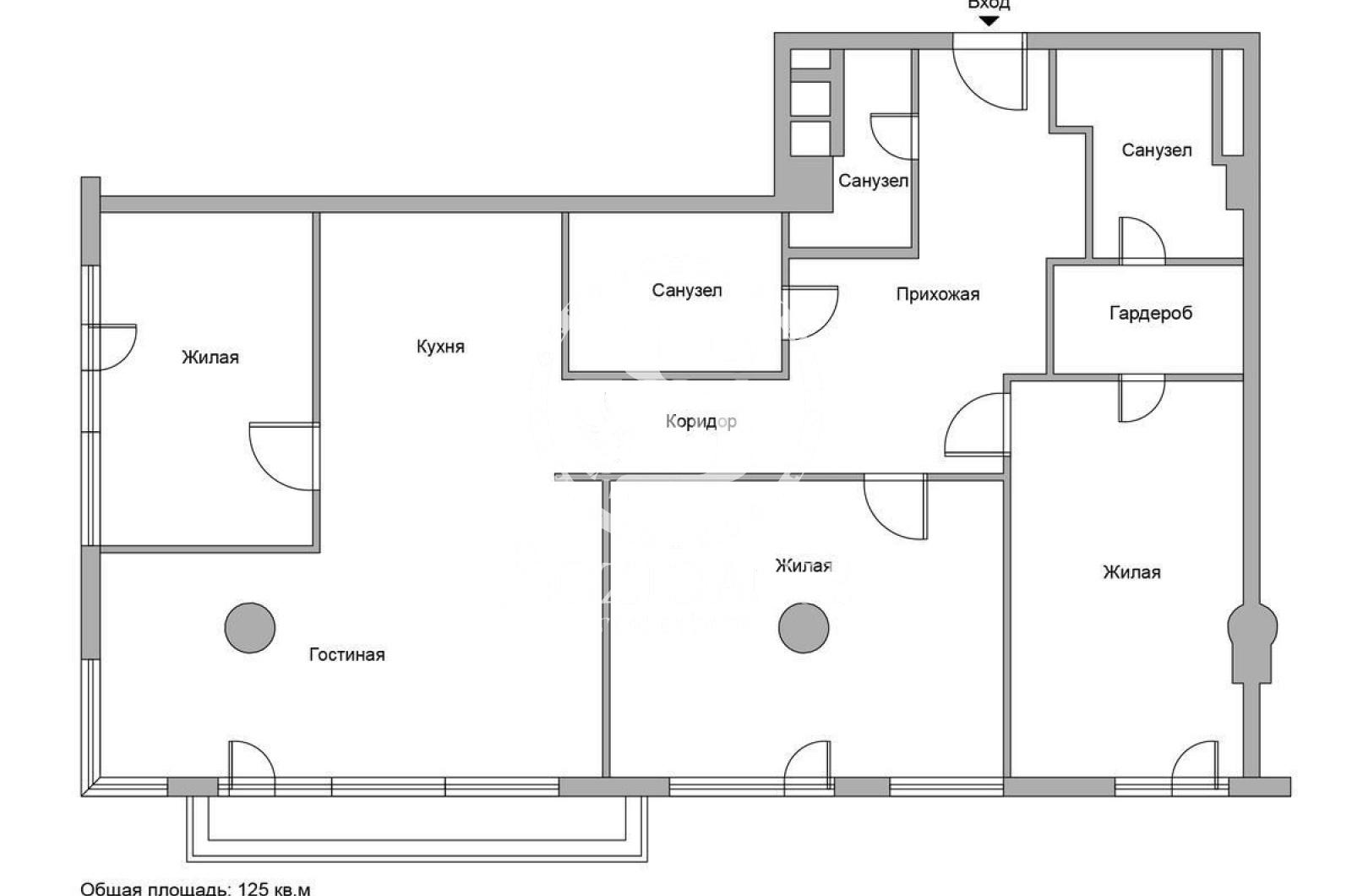 4 Комнаты, Городская, Аренда, Улица Большая Грузинская , Listing ID 3454, Москва, Россия,