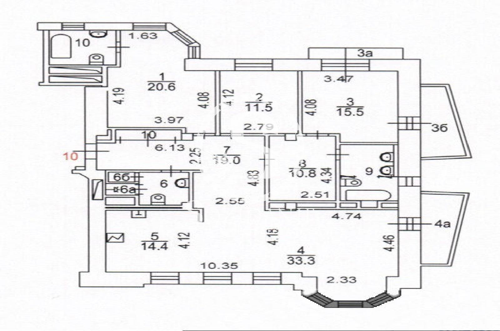 4 Комнаты, Городская, Продажа, Улица 3-я Тверская-Ямская, Listing ID 3455, Москва, Россия,