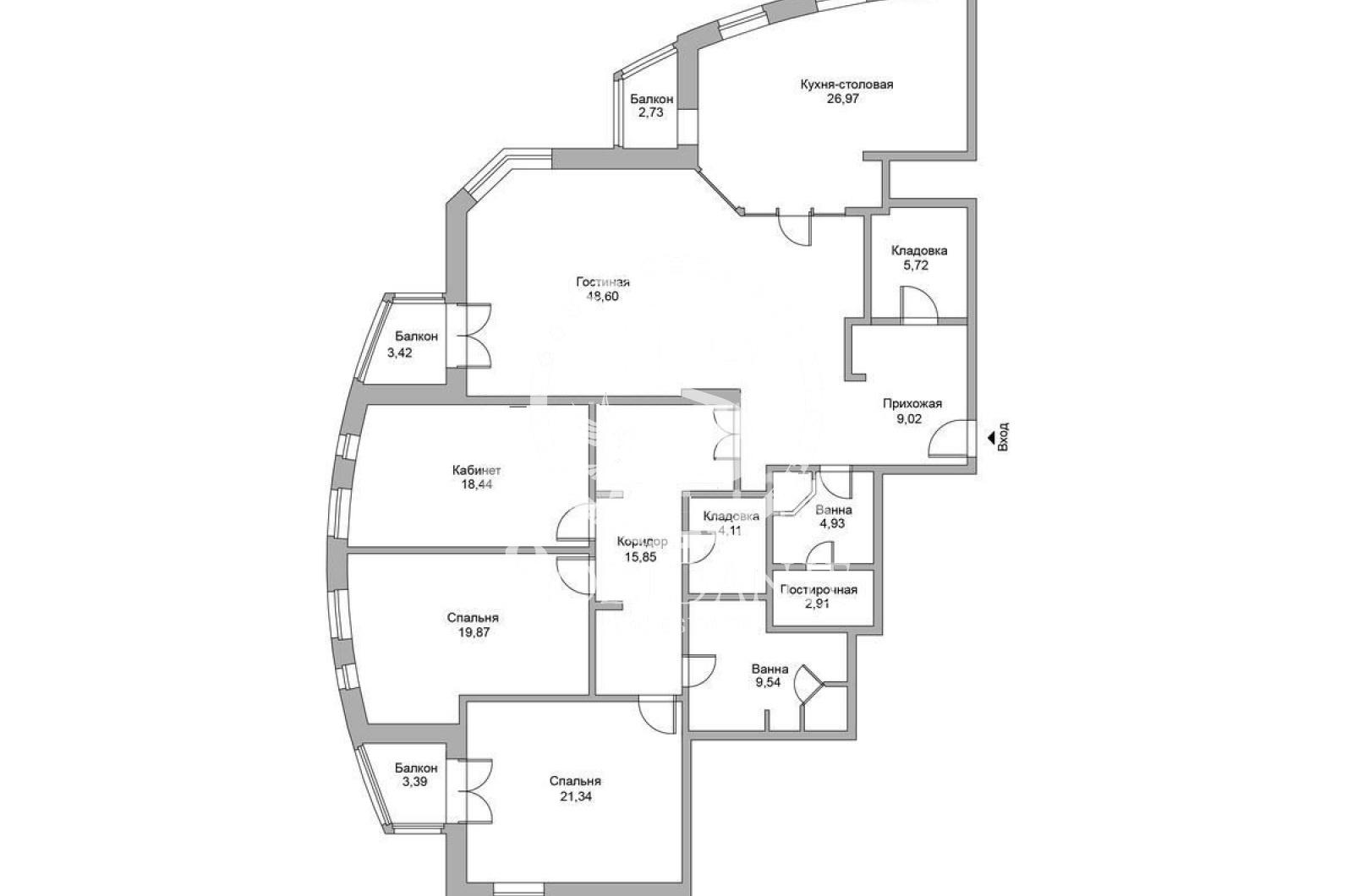 4 Комнаты, Городская, Продажа, Саввинская набережная, Listing ID 3488, Москва, Россия,