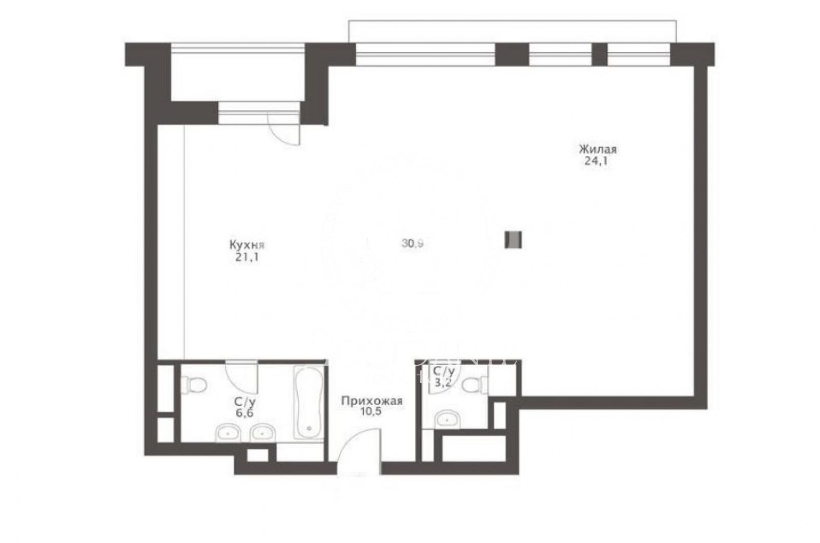 3 Комнаты, Городская, Продажа, Улица Льва Толстого, Listing ID 4090, Москва, Россия,